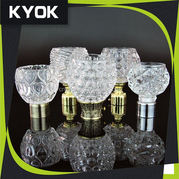 Curtains Ideas curtain rod crystal finials : Wholesale High Quality Glass Curtain Rod Finials,Chroming 1 Inch ...