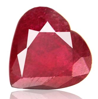 Certified 13.51 Carat Heart Shape Madagascar Ruby Gemstone