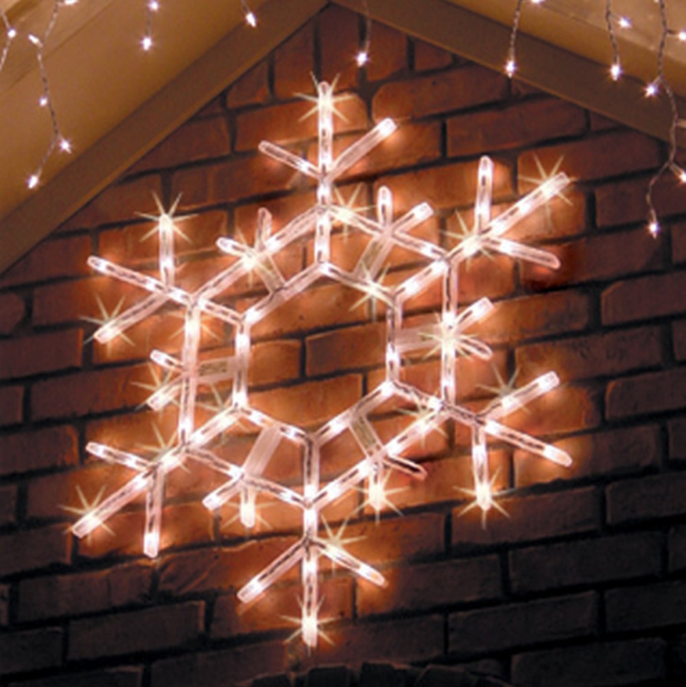 Get Quotations Kringle Traditions 36 Led Folding Le Snowflake Christmas Decoration Cool White Lights Outdoor