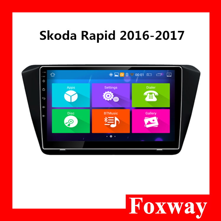 9 inch Car radio Android car audio system for Skoda Rapid