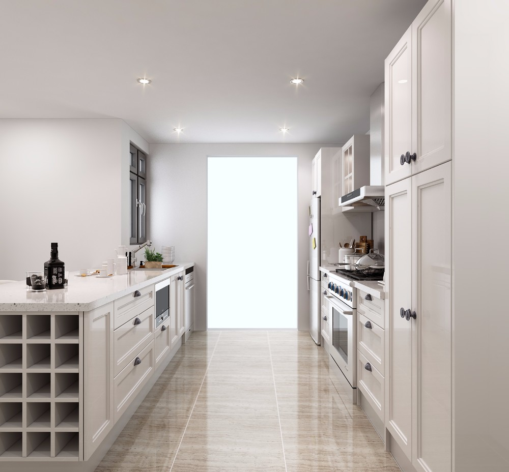 White High Gloss 2pac Modern Kitchen Cabinets Cheap ...
