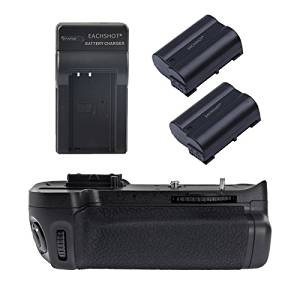 EACHSHOT MK-D7000/MB-D11 Battery Grip for Nikon D7000 + 2pcs Replacement Battery + Home Wall Charger(AC Plug)