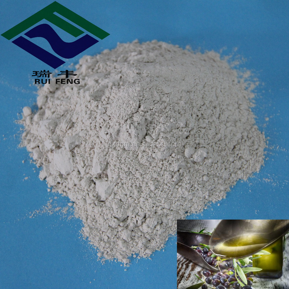 chemicals bentonite clay bleaching powder for olive oil