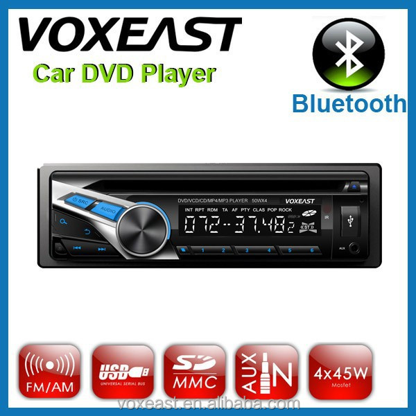 new design one din car dvd vcd cd mp3 mp4 player with USB SD slot