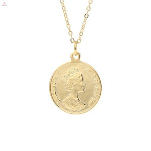 Wholesale Women Pendant Charm Jewelry 925 Sterling Silver Coin Necklace