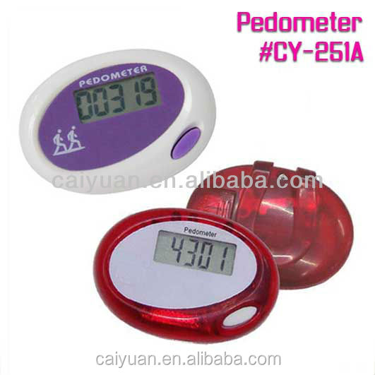 Perfect choice for promotion step counter sports gift pedometer with big LCD display