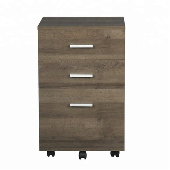 Office furniture 3 Drawer Lateral Wood Mobile Filing Cabinet
