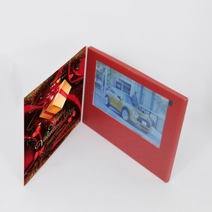 Fashionable design 2.4''4.3''5''7''10.1'' business gift bookletlcd brochure video book