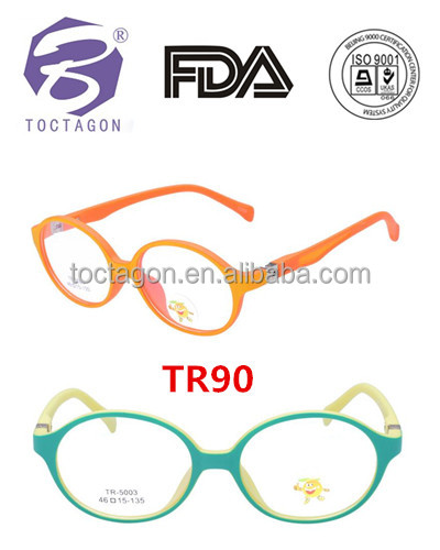 New product TR90 material Kids optical frame child round TR90 eyeglasses quickly delivery small order in stock