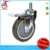 Medium Duty Swivel Side wheel Brake threamed Stem Casters With Polyurethane Wheels