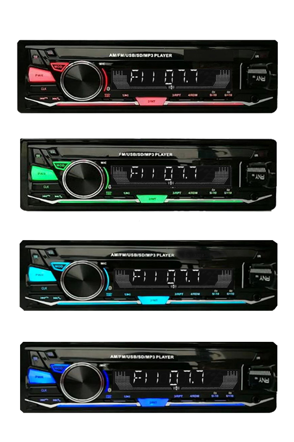 Auto Radio Stereo Bluetooth del Giocatore di Telefono AUX-IN MP3 mp3 Trasmettitore FM/USB/1 Din/remote control Car audio Auto Bluetooth Ricevitore