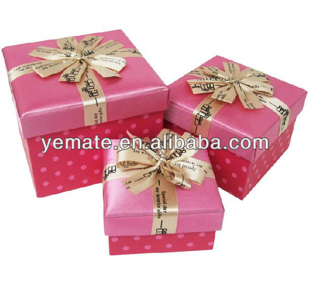 2012 elegant printing luxury gift box packaging, indian gift box with velvet ribbon