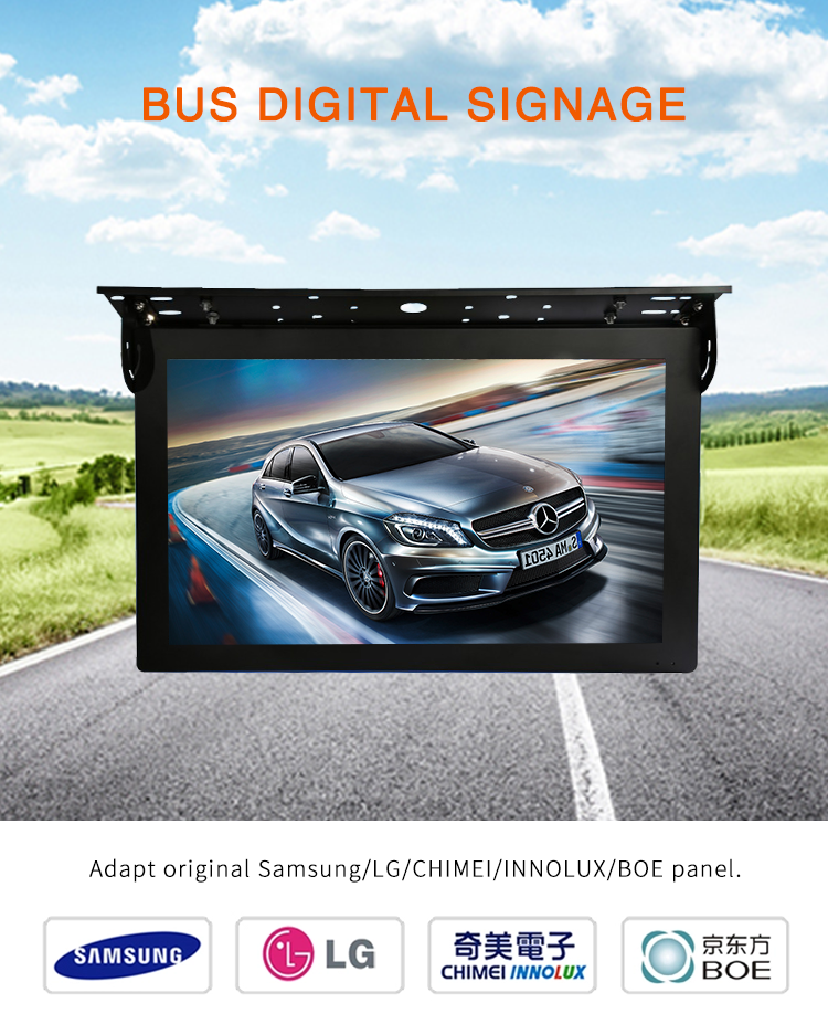 22 inch full color wireless network led display sign for bus