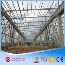 Prefab Steel Frame Structure Light Design Metal Construction Warehouse Workshop Plants Car Showroom Factory Building For Sale