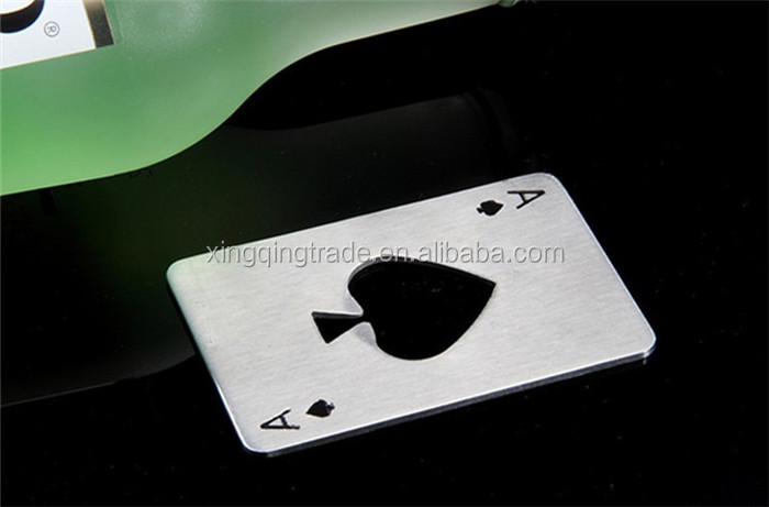 Creative Poker Card Beer Bottle Opener Personalized Funny Stainless Steel Credit Card Bottle Opener Card of Spades Bar Tool