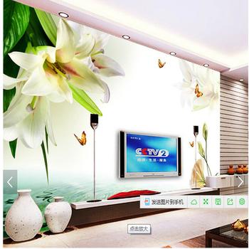 Mooie Bloem Muurschildering Grote Gedrukt Behang Voor Tv Achtergrond ...