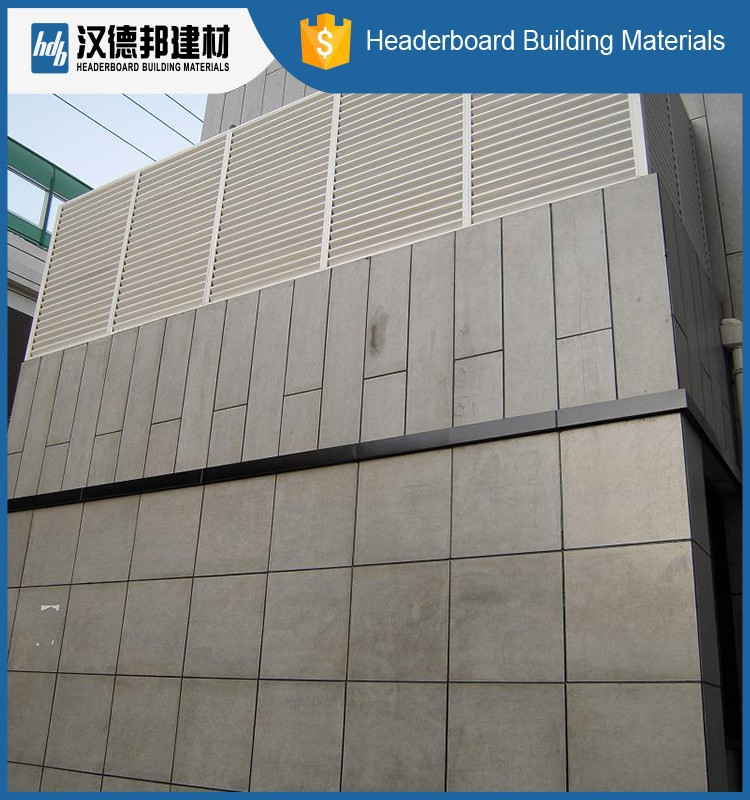 New coming different types incombustible material wall panel fiber cement 2015