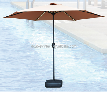 base patio solar umbrella knowledge clip lights