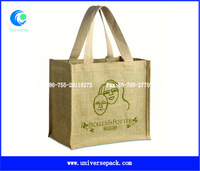 Shopping Export Bags Durable Jute Printed Customized Logo Hot Sale Bag