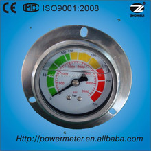 250 bar high pressure gauge with silicone oil filled diameter 63mm panel mounting