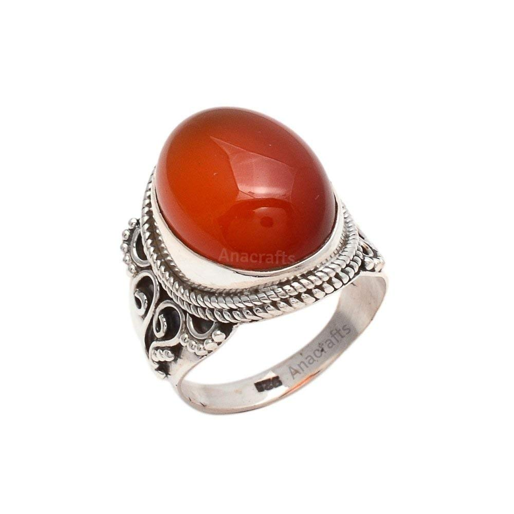 Girls Ring Silver Ring 925 Sterling Silver Ring Carnelian Stone Ring Size 3 4 5 6 7 8 9 10 11 12 13 14 15 16 Rings For Women