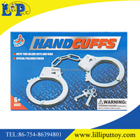 Promotion metal handcuffs police toy for kids