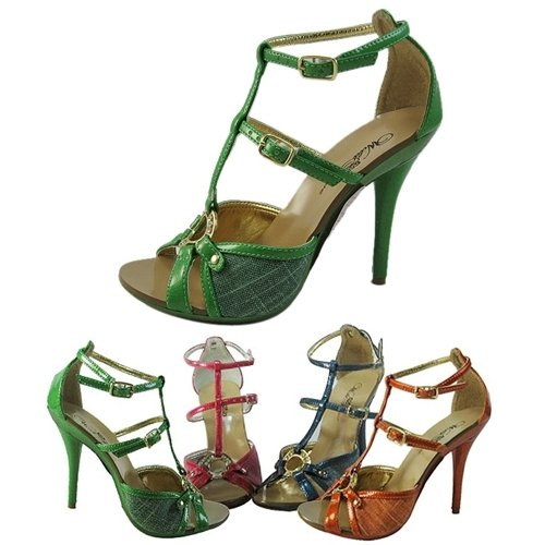 with Cross Buckle Shoe Strappy Heel Band SYzxwqSIC