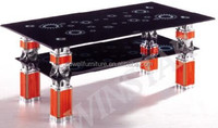 Factory Price Glass Design Table Pinging Table Office Tea Table For Sale
