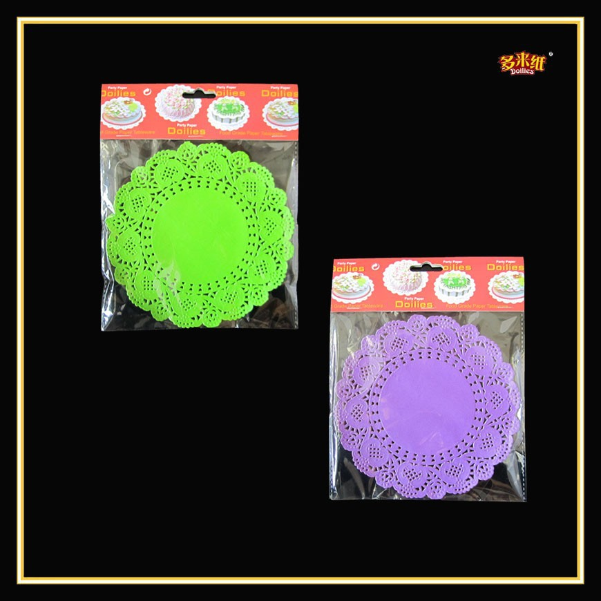 Most popular sell Hot cut blue paper doilies lace label lace make machine