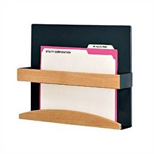 Bundle-75 1 Pocket Magazine Rack Type: Standard Holder, Back Panel Color: Haze, Retainer Finish: Mahogany