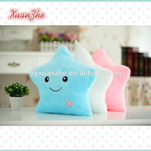 Hot Sale Led Pillow Star And Heart Shaped Soft Plush Pillow