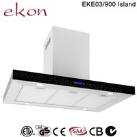 CE CB SAA GS Approved 90cm Stainless Steel Kitchen Island Cooker Hood
