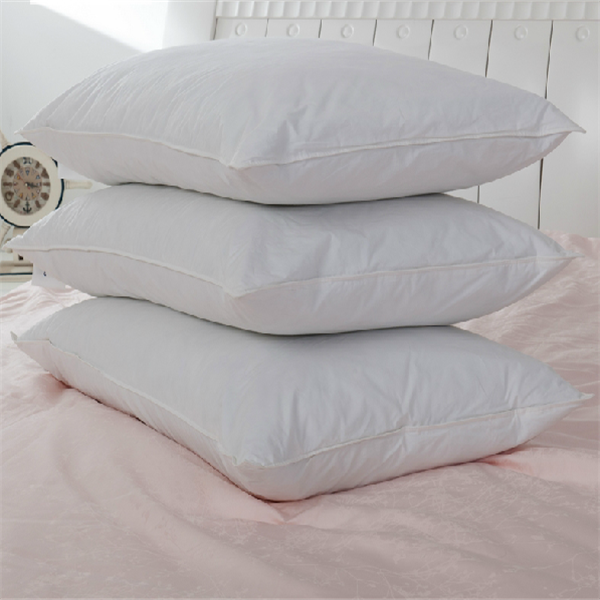 Easy Care Machine Washable and Dryable White Goose Down and Feather Pillow Stanard/Queen size down pillow