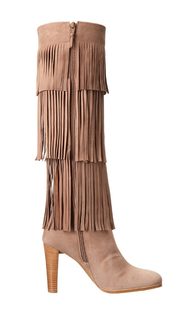 Brown Boots Latest Tassel Women High Leather Knee With Heels fS8x6Uq85w