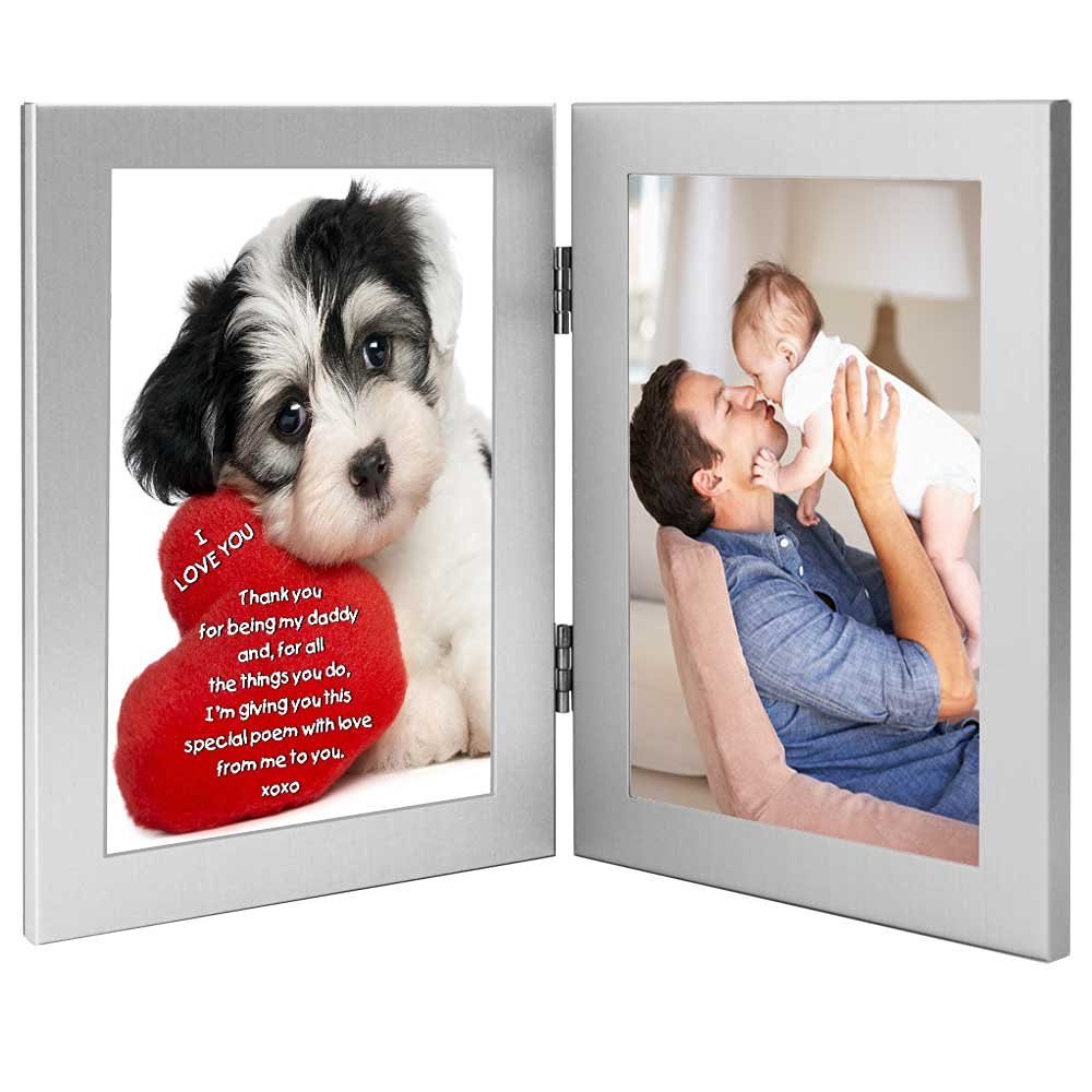 i love you daddy valentines day gift puppy design with sweet poem for dad from