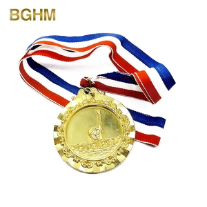 Wholesale Blank Metal Swimming Marathon Sports Medals Custom Medal With Ribbon