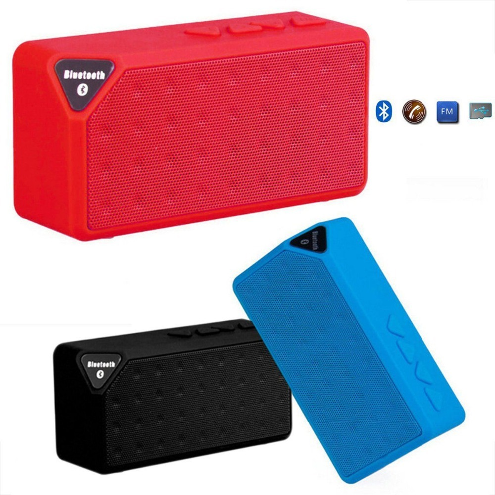Mini Portable Radio Speaker X3 Wireless Bluetooth Speaker FM Radio Jambox Stereo Soundbox with FT Slot Speakers Boombox