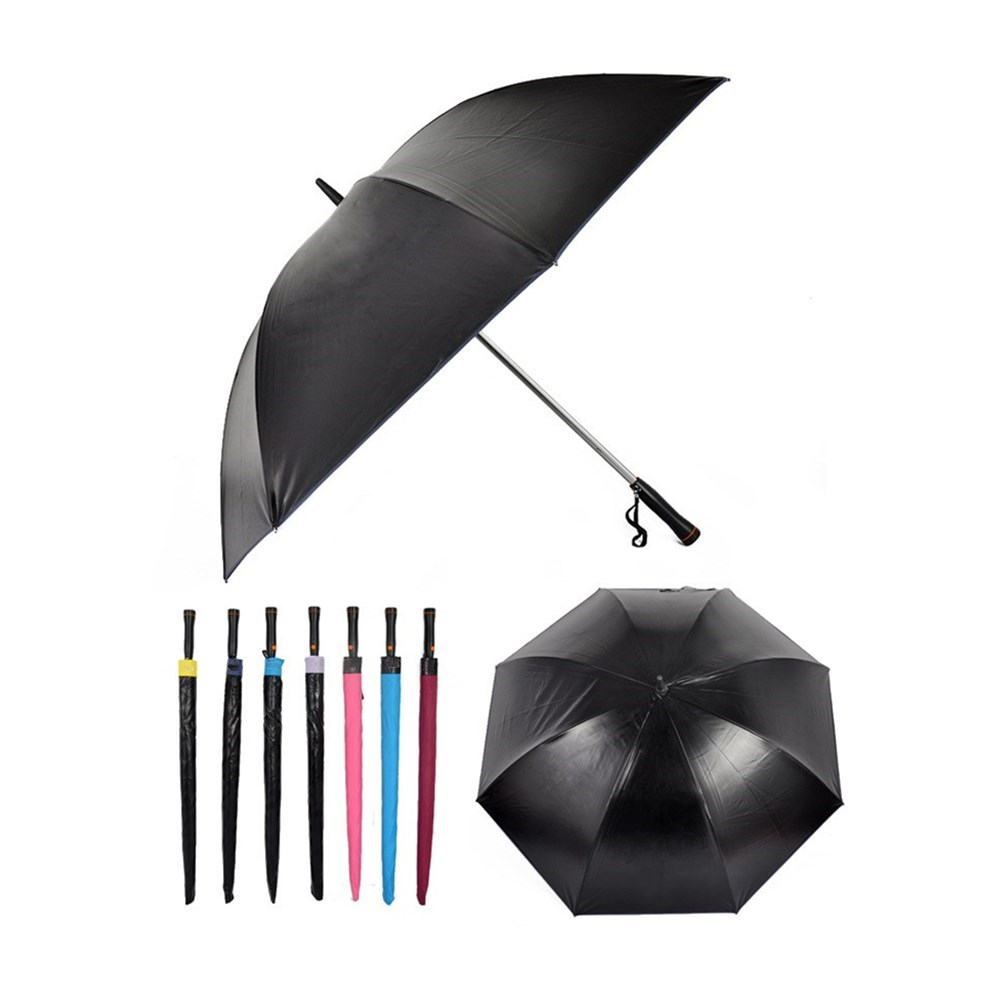 Logo Customized Bright Color Golf Umbrellas USB Rechargeable Fan Umbrella