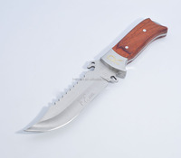 10 '' Stainless Steel Survival Skinning Hunting Knife Wood Handle Bowie