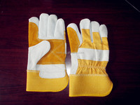 Workplace safety supplies quality Hot Sale Stock Available Cheap Split Cowhide Working Gloves