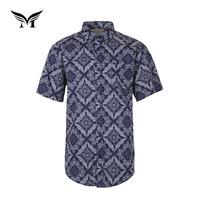 Factory supplier italian summer short sleeve classical custom cotton plain hawaiin shirt printing