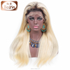 Aliexpress Straight Brazilian #613 Blonde Human Hair Full Lace Front Wig With Baby Hair For Women Long Blonde Wig Human Hair