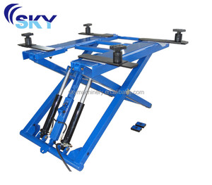 Hot sale high quality lifts workshop used/manual hydraulic lifter/mid rise car lift