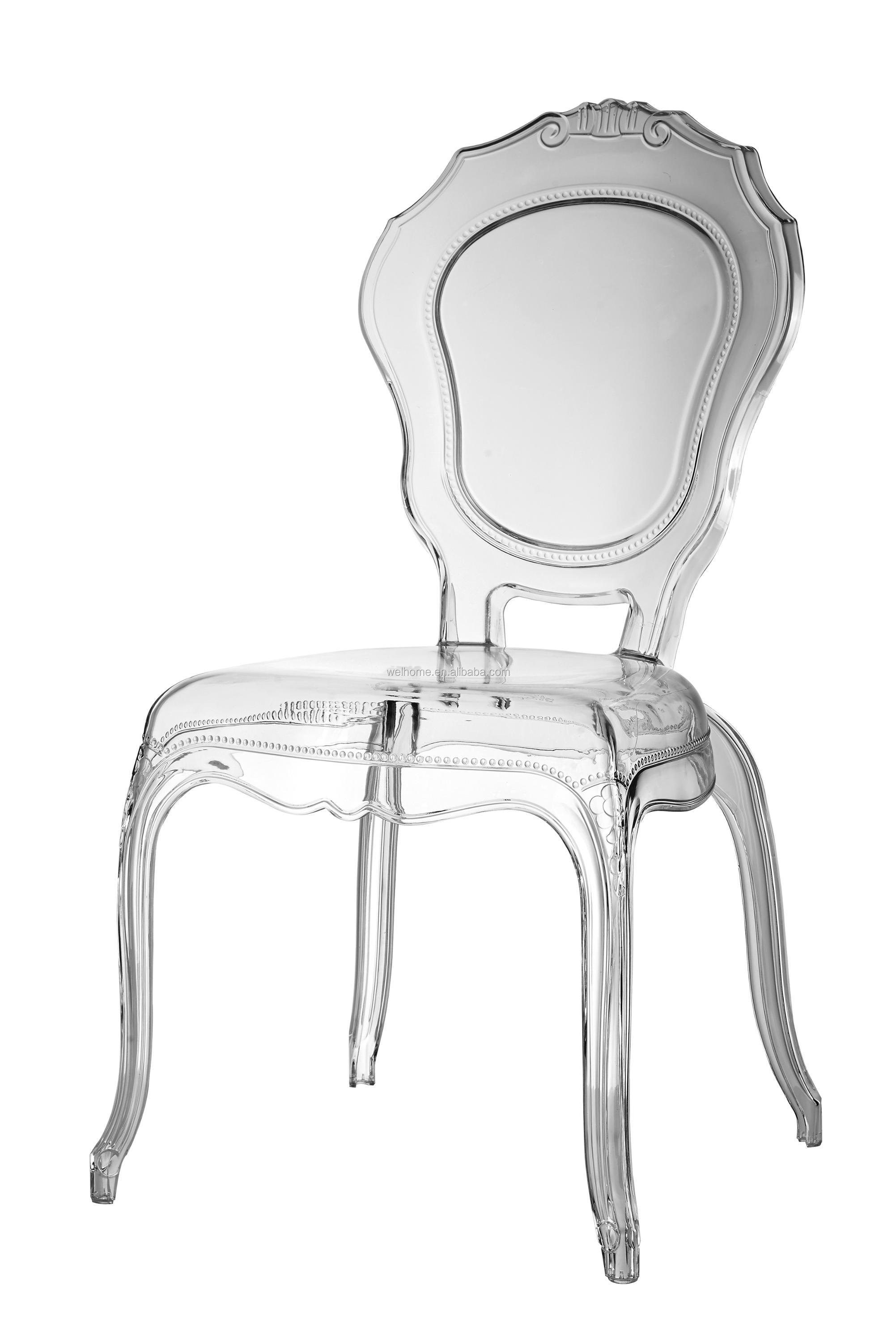 Pc Acylic Outdoor Party Event White Belle Epoque Wedding Chairs