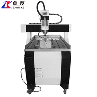 600*900mm 4 Axis Small Wood Metal Stone CNC Router Engraving Machine 6090 ZK-6090 With 3.2Kw Spindle Mach3 Control