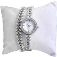 W4793 Bracelet Jewelry Pearl Crystal watches Silver Golden Lady's Bracelet Watch
