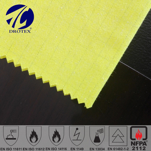 Oil gas 80%Cotton 19%polyester 1%antistatic 1*1 cm Belltron carbon fiber 255gsm oil-waterproof fabric
