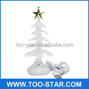 Crystal USB Christmas Tree Mini Christmas Tree For Desk Decoration