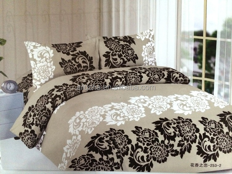 2015 moderne pas cher coton 4 pe as violet housse de couette luxe soie literie drap housse. Black Bedroom Furniture Sets. Home Design Ideas