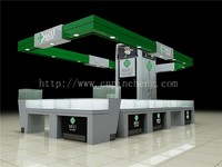 Korean jewelry store furniture used wooden showcase for jewelry display set